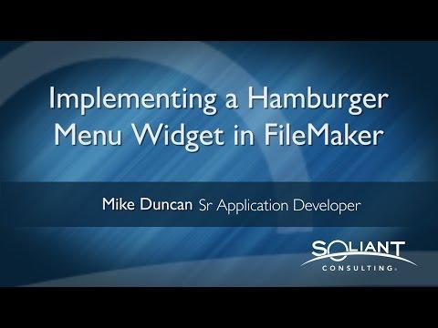 FileMaker: Hamburger Menu