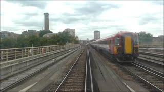 DRIVERS EYE VIEW Gatwick Airport to London Victoria, Class 442.