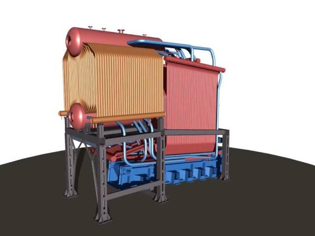 Котел паровой Е-10-14 ДВУ для сжигания низкосортного угля