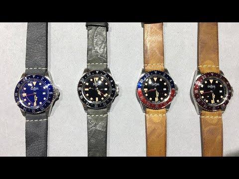Davosa Vintage Diver GMT Quartz Review www.olfert-co.de
