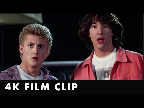 BILL AND TED'S EXCELLENT ADVENTURE - Circle K Clip [4K] - Starring Keanu Reeves & Alex Winter