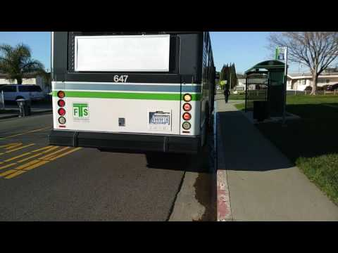 Fast Transit 647 on route 3N departing Fairfield and Stratford