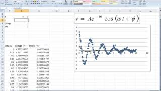 Nonlinear Model Fitting using Excel
