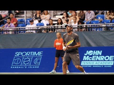 Video: Henrik Lundqvist plays in Celebrity Doubles Match