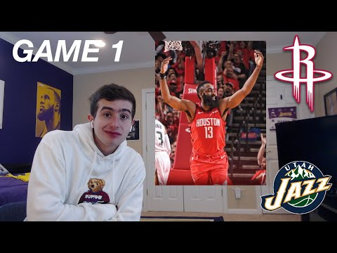 ROCKETS MIGHT WIN IT ALL....ROCKETS JAZZ GAME 1 REACTION!!