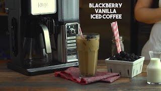 Blackberry Vanilla Cream Iced Coffee by Tastemade