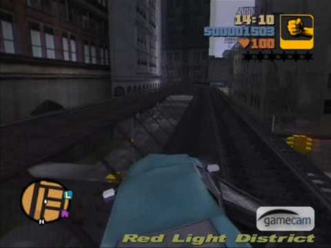 GTA 3 - How to get on the railroad with any car