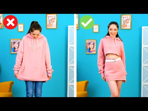 40 CLOTHES TRANSFORMATION IDEAS || 5-Minute Stylish Ideas For Girls!