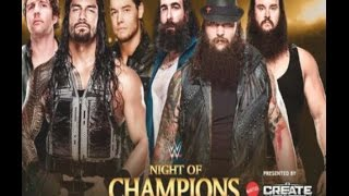 WWE Night Of Champions 2015 (Predictions) Dean Ambrose, Roman Reigns, ? vs. The Wyatt Family WWE2K15
