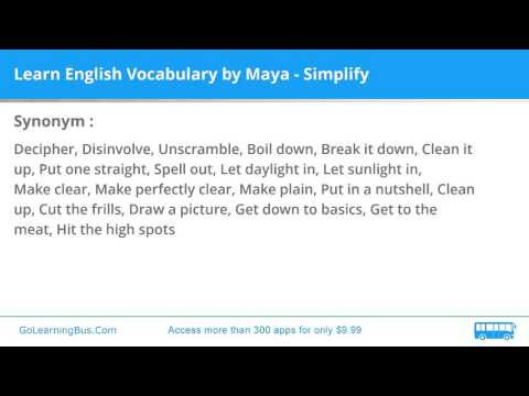Learn English Vocabulary By Maya - Simplify