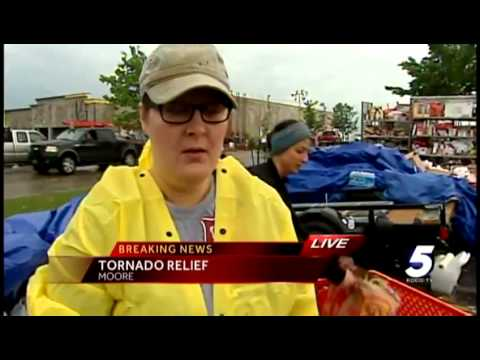donate - KOCO 5 News reporter Rachel Calderon is at the scene of a donation relief center in Moore.