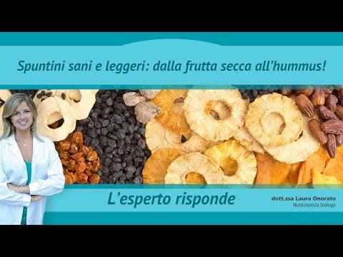 spuntini sani e leggeri: dalla frutta secca all'hummus!