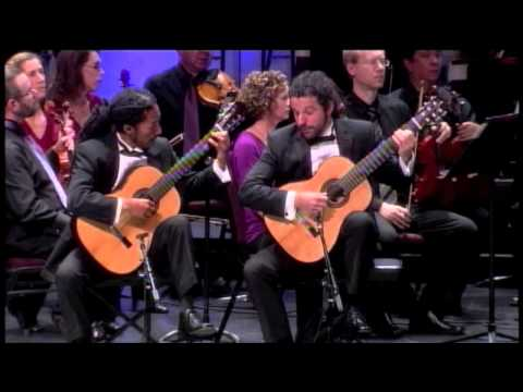 See video  II Castelnuovo-Tedesco Concerto for Two Guitars - Brasil Guitar Duo - heartland festival orchestra