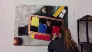 Oil Pastel Process (Time Lapse)