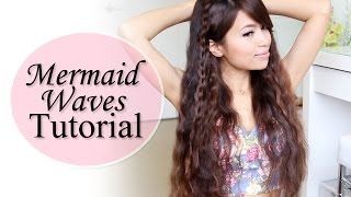 Mermaid Waves Hair Tutorial feat. NuMe Pentacle Wand Deep Waver - YouTube