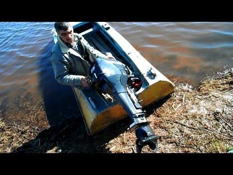 лодочный мотор с ваза видео