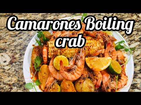 "BOILING CRAB   |  CAMARONES DE BOLSA ""WHOLE SHA-BANG""  RECETA SECRETA"