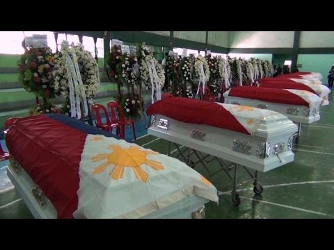 Video Ceremony for Philippine troops killed in Abu Sayyaf clash download in MP3, 3GP, MP4, WEBM, AVI, FLV January 2017