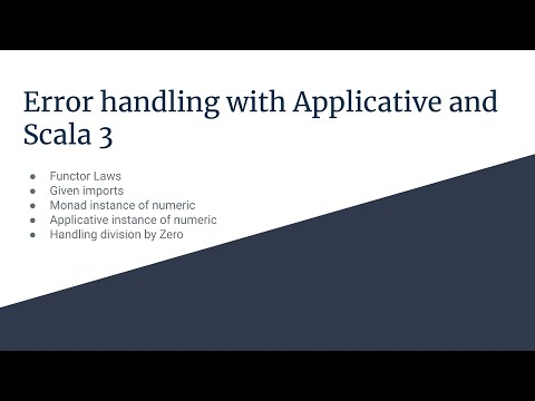 Ep 6: Functional error handling with applicative in Scala 3