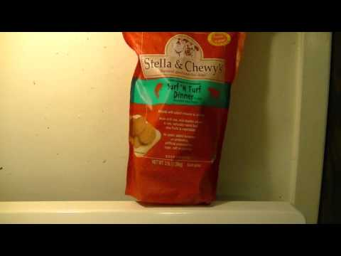 Raw food for dogs – supplement with Stella & Chewey's frozen raw food.