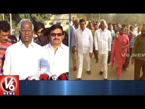Kadiyam-Srihari-Morning-Walk-Orders-HUDA-Officials-To-Develop-Walking-Track-Warangal-V6-News