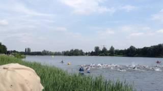 3e teamwedstrijd Utrecht, zwemstart