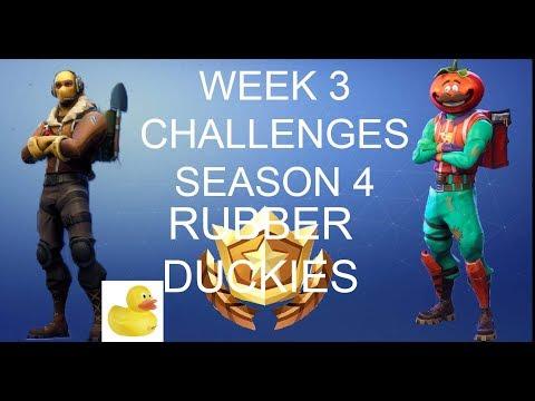 SEASON 4 WEEK 3 CHALLENGES - RUBBER DUCKIES - FORTNITE BATTLE ROYALE
