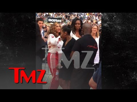 Michelle Obama Gets Down With Tina Knowles, Daughters at Jay-Z & Beyonce Paris Concert | TMZ