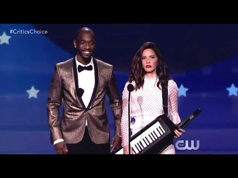 Olivia Munn Opens Critics Choice Awards (2018)