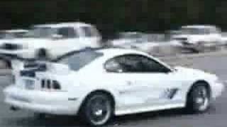 Stupid driver in a mustang