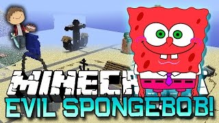 Minecraft: EVIL SPONGEBOB BIKINI BOTTOM CHALLENGE! w/Bajan Canadian&Friends!
