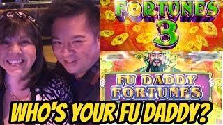 BIG MAJOR WIN!  FU DADDY SLOT MACHINE POKIE WITH REX