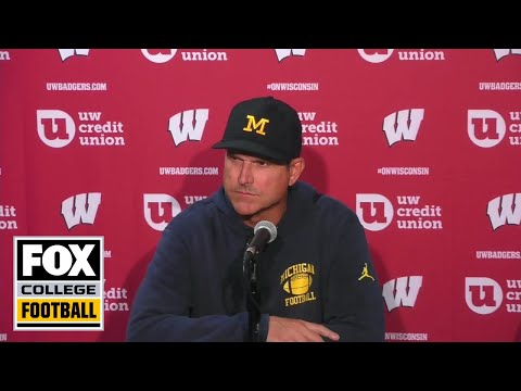 Video: Jim Harbaugh: Michigan was 'outplayed, outprepared, outcoached' vs. Wisconsin | FOX COLLEGE FOOTBALL
