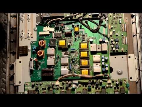 Repairing Flat Screen TV - Blacked Out With Blinking Red Light