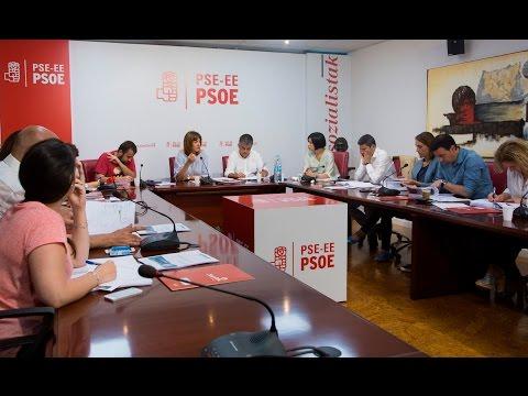 Reunión de la Comisión Ejecutiva del PSE-EE para analizar los resultados del #26J