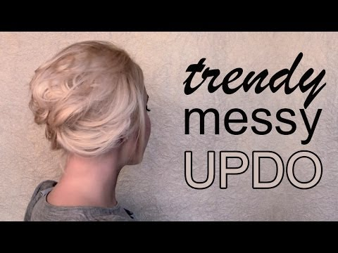 Video Of The Week: Messy Updo And Side Rolled Hairstyles