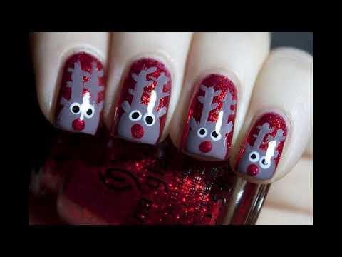 Decorados de uñas - Diseños de uñas decoradas de Navidad Sencillas Faciles y Elegantes