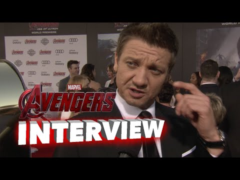 "Marvel's Avengers: Age of Ultron: Jeremy Renner ""Clint Barton"" / ""Hawkeye"" Premiere Interview"