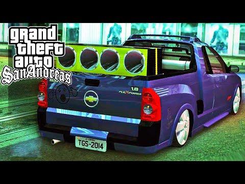 Chevrolet - Chevrolet Montana Sport na Fixa e com Som - GTA SA Mods ➨ Vídeo Novo: Gol Top na Fixa - http://youtu.be/-ooB-i9ExWU - Mais Mods - http://goo.gl/BZJn9o - Download Caminhão - http://goo.gl/bcSD.