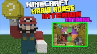 Minecraft Tutorial: How To Make A Mario Themed House Interior/Exterior