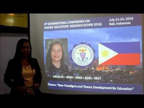 ICHER 2016   GEMMA N  KINTANAR   CMC, PHILIPPINES
