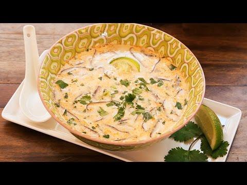 zuppa tailandese di gamberi e funghi - ricetta