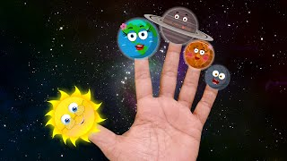Planets finger family   the planet song   solar system song   science songs for kids   kids music