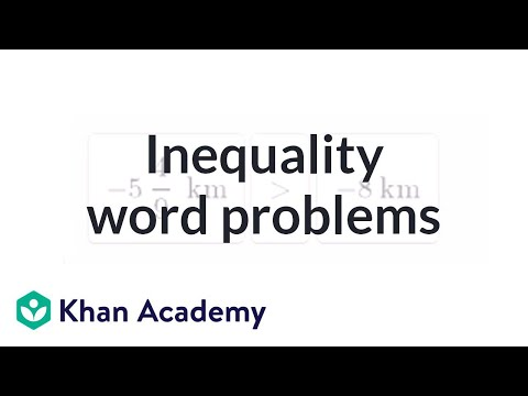 Inequality Word Problems Video Khan Academy