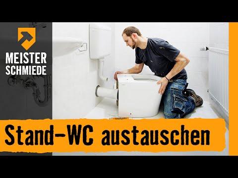 Stand-WC austauschen | HORNBACH Meisterschmiede