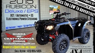 5. 2015 Honda Foreman RUBICON DELUXE 500 ATV Review of Specs / Features - TRX500FA7F