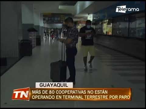 Mas de 80 cooperativas no están operando en terminal terrestre por paro