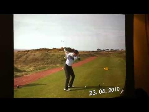 Axel on the 11th hole at Hoylake
