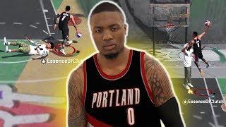 DAMIAN LILLARD CRAZY CROSSOVERS, THREES AND DUNKS! NBA 2K18