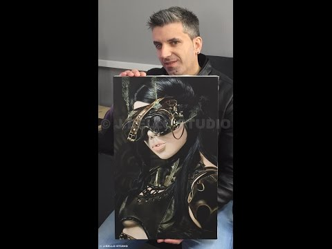 "Time-Lapse Video ""Steampunk Girl I"" Acrylic Painting"
